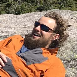 Man with Beard and Orange Jacket